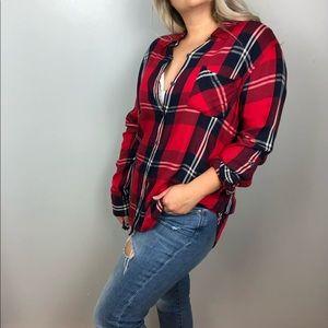 Woolrich red flannel women's top size xl